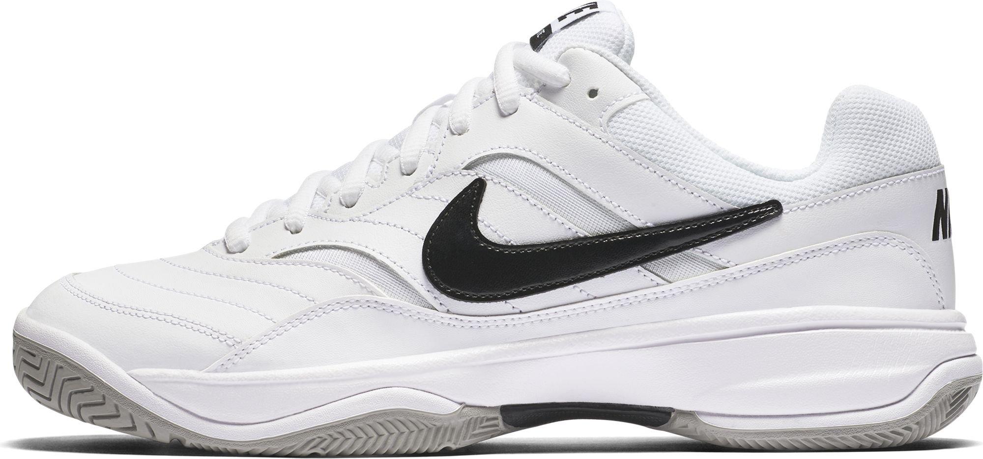 NIKE Men's Court Lite Tennis Shoe, White/Medium Grey/Black, 7 D(M) US