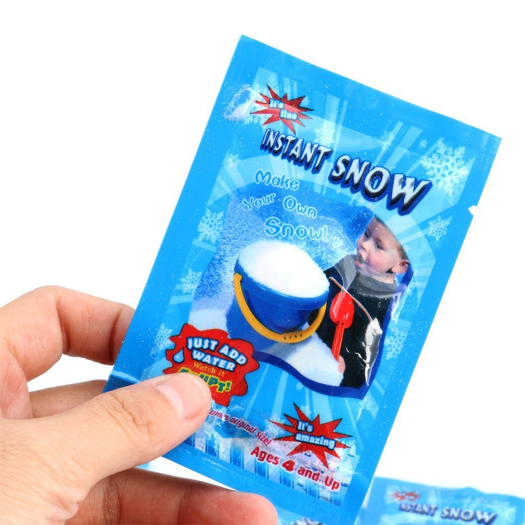 WarmShine 20 Pack Instant Snow Powder SAP Magic Snow Reusable DIY Artificial Slime Simulation Snow Home Ornament Party Decoration by WarmShine (Image #3)