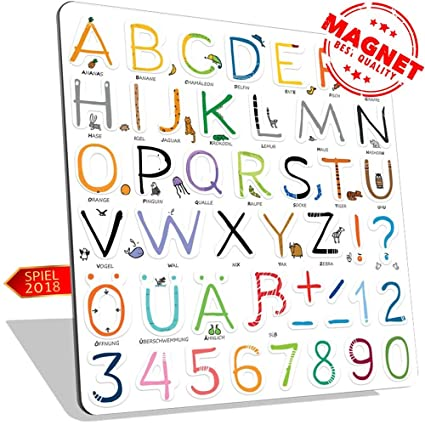 Alphabet Magnete Modell Illustrationen
