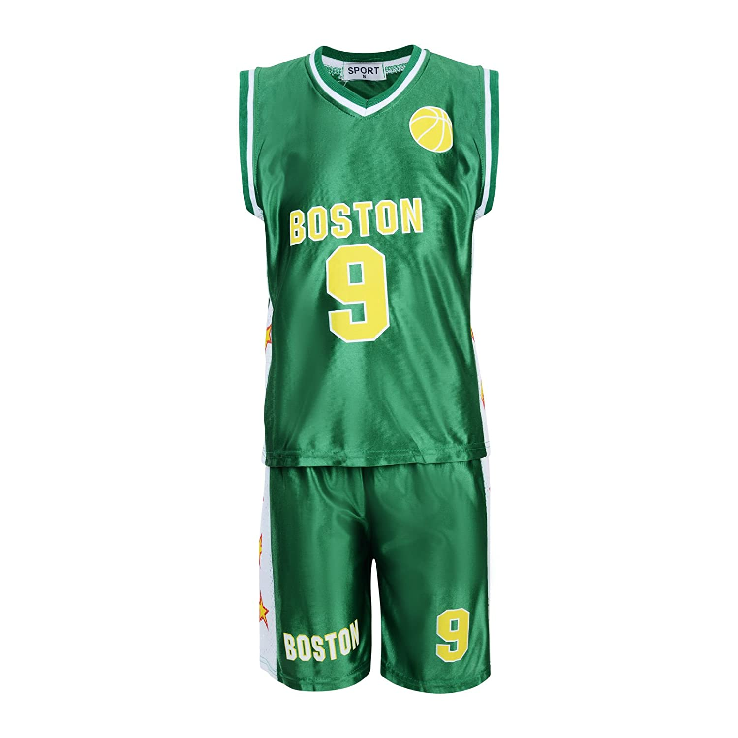 BOYS BASKETBALL VEST TOP /& SHORTS SET KIT 3-13 YEARS