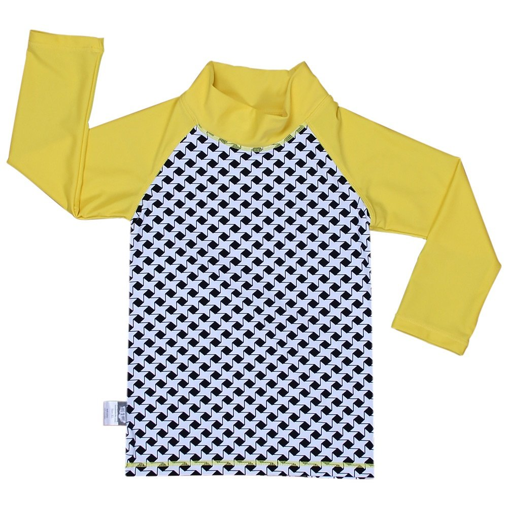 Kids Rash Guard UPF 50 Sun Protection Shirt (Shirt XL: 3Y+, stars) Twinklebelle design inc 21-02XL