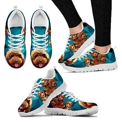 1afc02f5c002 Petz-Plus Poodle Dog Running Shoe Custom Print Tennis Shoes Sneakers Women