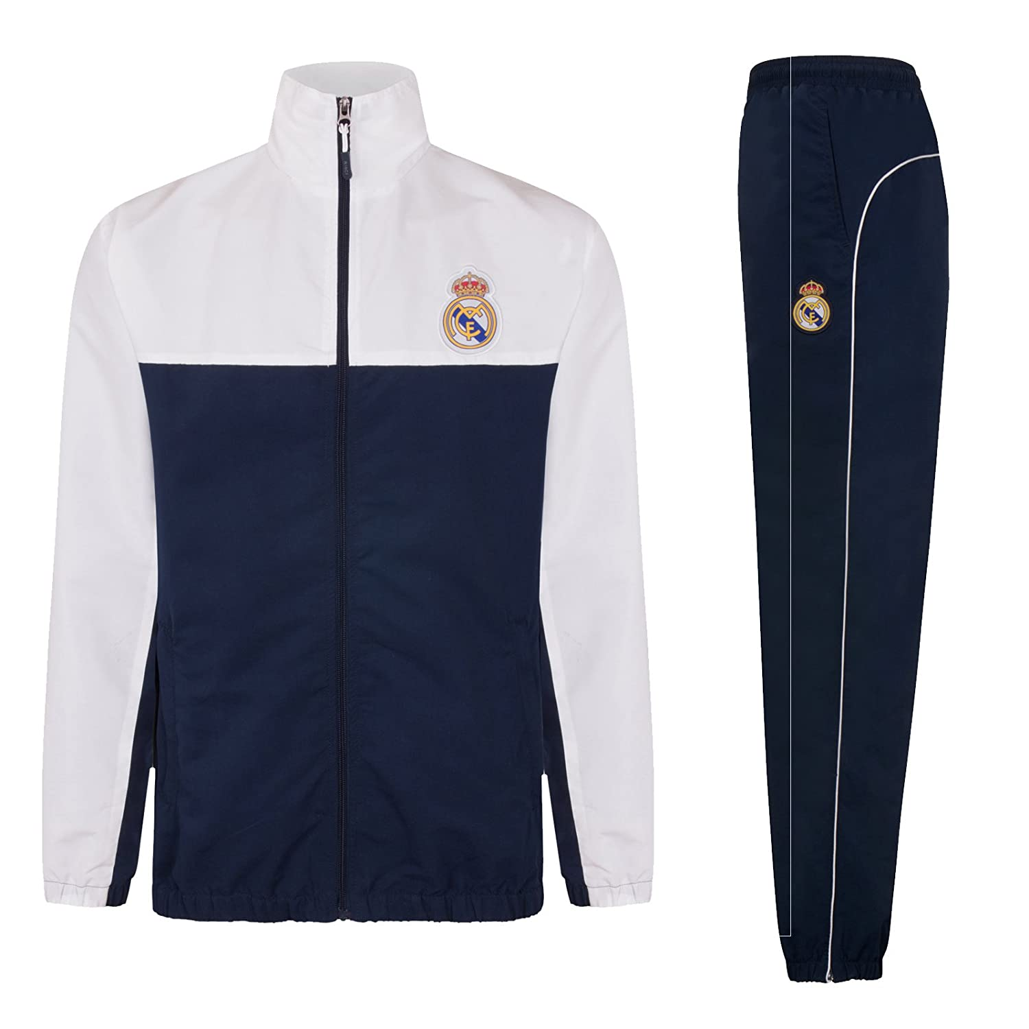 Real Madrid Official Football Gift Mens Jacket & Pants Tracksuit Set