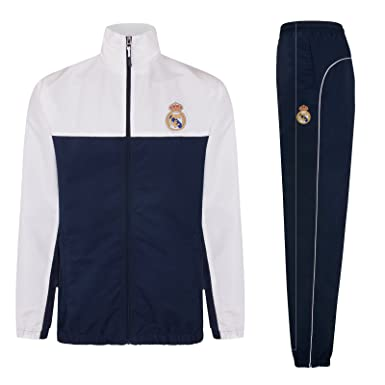 a0e25efc7 Real Madrid Official Football Gift Boys Jacket & Pants Tracksuit Set 6  Years Navy Blue