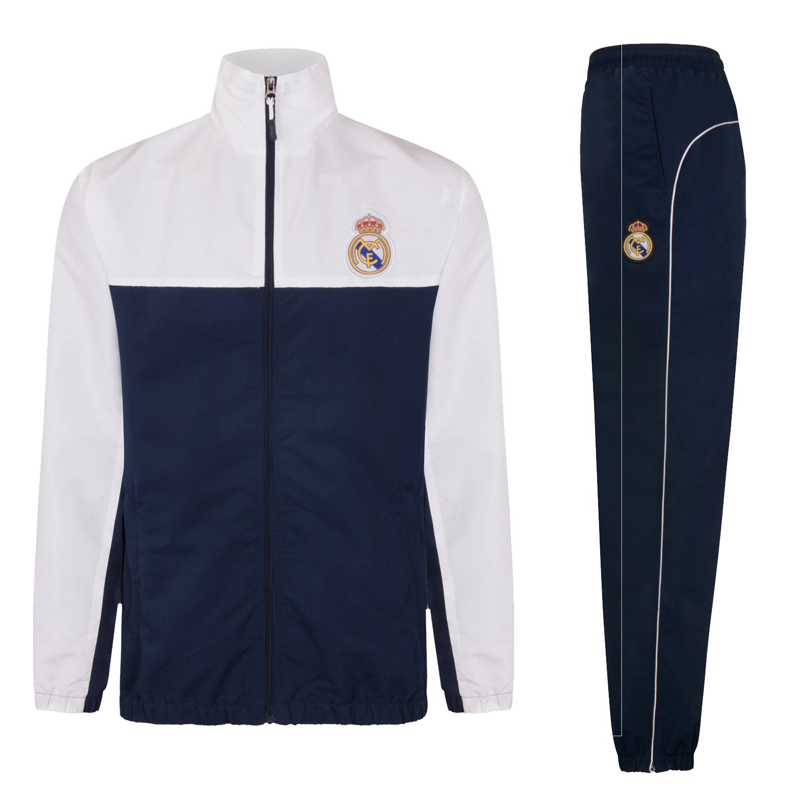 Real Madrid Official Football Gift Boys Jacket & Pants Tracksuit Set 8 Years Navy Blue