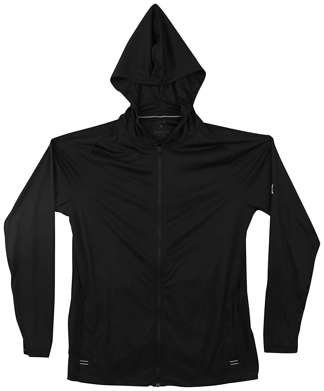 Hurley 942159 Mens Icon Quick Dry Front Zip Hooded Long Sleeve Shirt