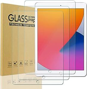 [3 Pack] iPad 8th/7th Gen Screen Protector, KIQ Tempered Glass Fits iPad 10.2