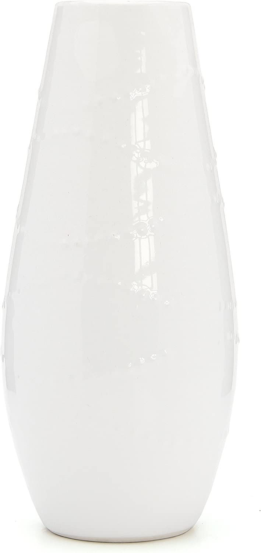 Hosley 12 Inch High White Textured Ceramic Vase Ideal Gift for Weddings Party Home Spa Settings Reiki O3 31WDkUSLlpL
