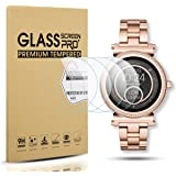 Diruite 4-Pack for Michael Kors Access Sofie Tempered Glass Screen Protector for MK Sofie Smart Watch [Anti-Scratch] [Perfectly Fit] [Optimized version] - Permanent Warranty