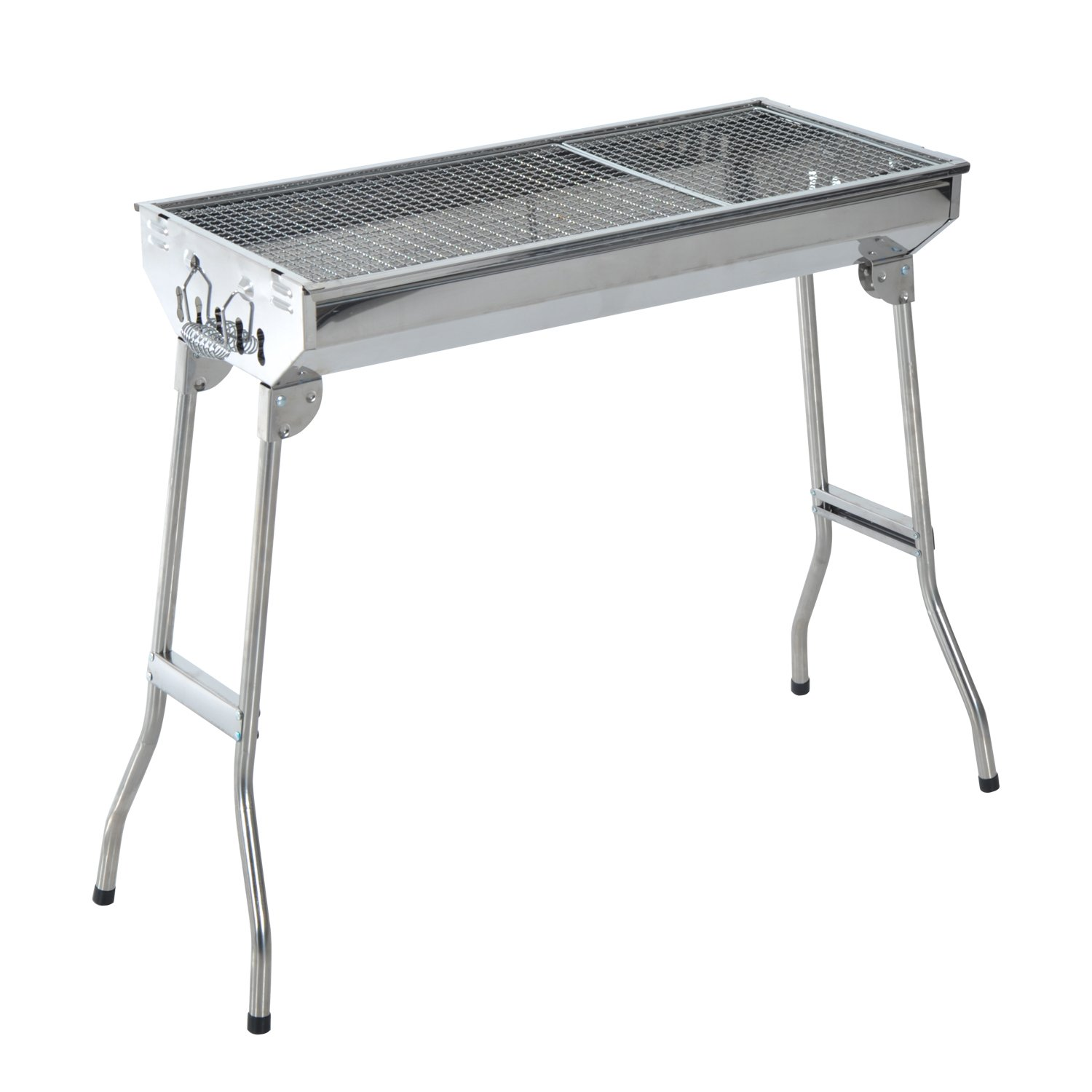 """Amazon Outsunny 35"""" Stainless Steel Portable Folding"""
