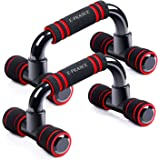 E-PRANCE Push Up Bars Stand Press Pull with Antislip Foam Ergonomic Handles for building muscles Home or Gym Exercise Training