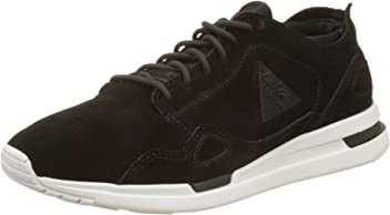 Le Coq Sportif Womens LCS R Flow W Suede/Satin Bass Trainers, Frost Gray