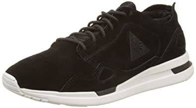 Womens LCS R Flow W Suede/Satin Bass Trainers, Frost Gray Le Coq Sportif