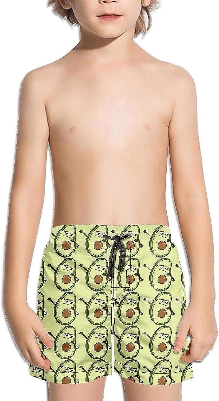 Boys Quick Dry Beach Board Shorts Hibiscus Dark Blue Stripes Kids Swim Trunks with Mesh Lining