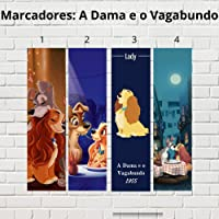 Kit 4 Marcadores de página - A dama e o Vagabundo