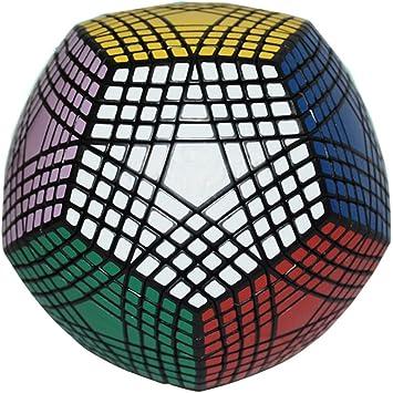 MZStech Megaminx Magic Cube 9x9 Dodecaedro Puzzle Cube Juguetes para Niños Negro: Amazon.es: Juguetes y juegos