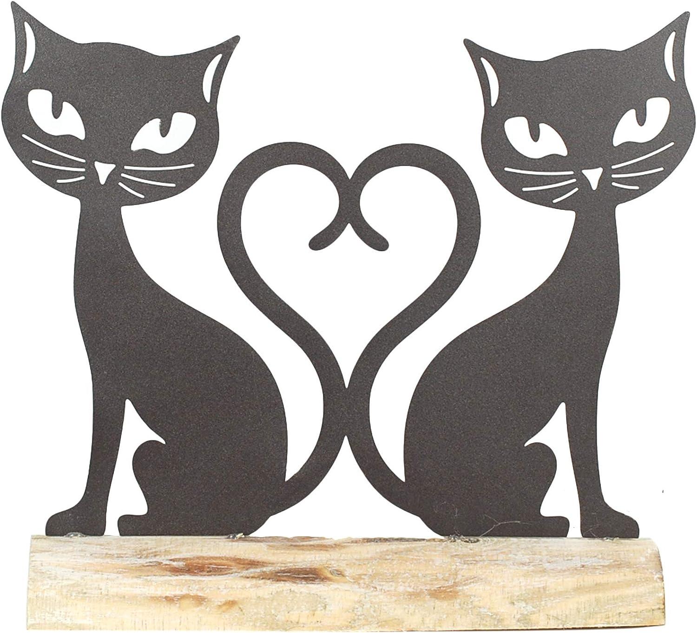 Vidal Regalos Figura Decorativa Pareja Gatos Metal 26 cm: Amazon.es: Hogar