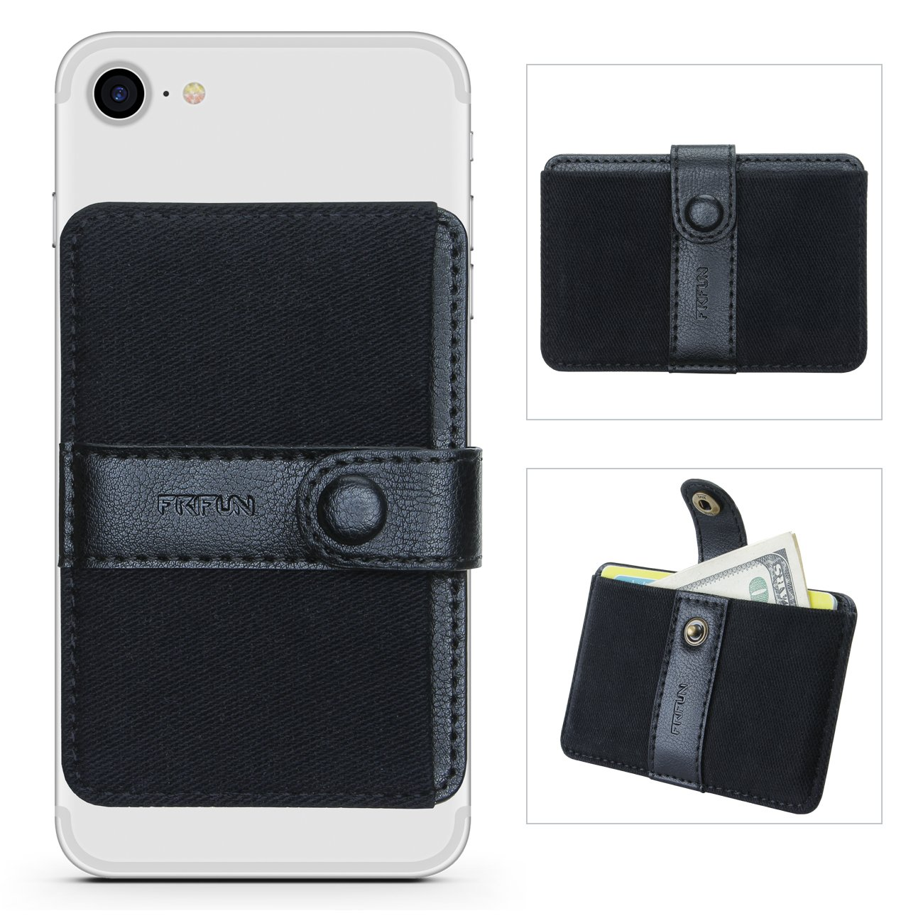 super popular 0c526 89af5 Phone Card Holder Ultra-slim Self Adhesive Stick-on Credit Card Wallet,  Cell Phone Wallet with Pocket for Credit Card, ID, Business Card - iPhone,  ...