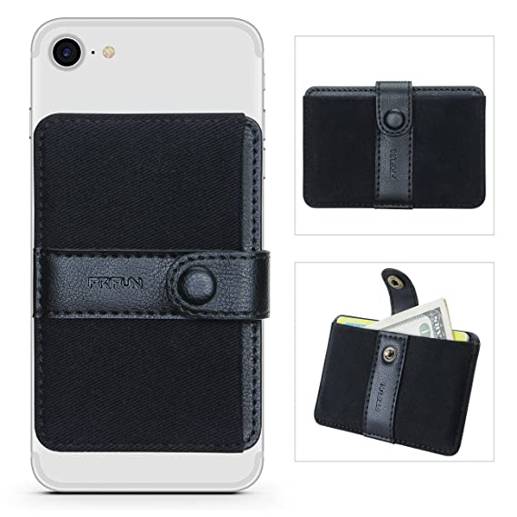 super popular 2381f ae98e Phone Card Holder Ultra-slim Self Adhesive Stick-on Credit Card Wallet,  Cell Phone Wallet with Pocket for Credit Card, ID, Business Card - iPhone,  ...
