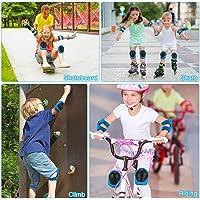 Jooheli Rodilleras para niños, Rodilleras para niños Set 6 Piezas, Knee Pads, Coderas muñequeras Conjunto de Equipo de…