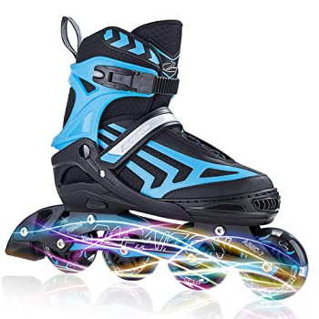 ITurnGlow Adjustable Rollerblades for Kids