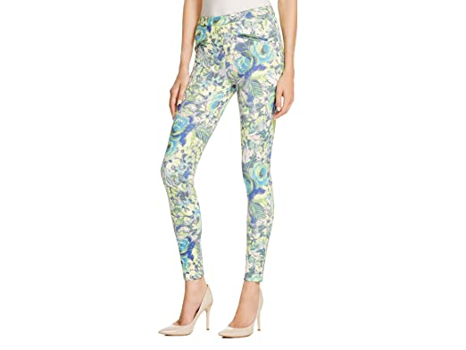4d11cef9611ed8 Image Unavailable. Image not available for. Color: Hue Major Floral Satin  Jersey Skimmer Leggings ...