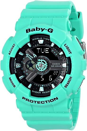 Amazon.com: Casio BA-111–3ACR Reloj verde de cuarzo de ...