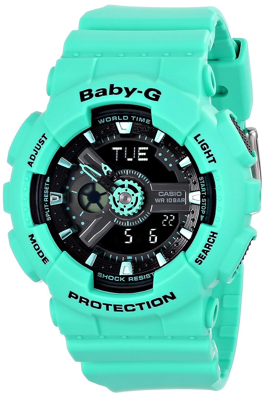 Casio Women s BA-111-3ACR Baby-G Analog-Digital Display Quartz Teal Watch
