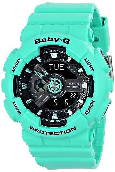cef7ecf4a0f8bd Casio Women's BA-111-3ACR Baby-G Analog-Digital Display Quartz Green Watch:  Amazon.ca: Watches