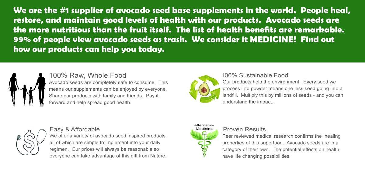 Avocado Seed SuperFood Supplements, 5 lb. Raw Avocado Seed Powder - Bulk Wholesale Pricing- Antioxidants, Fiber, Weight Loss, Blood Sugar, Cholesterol, Heart Health, Skin Care