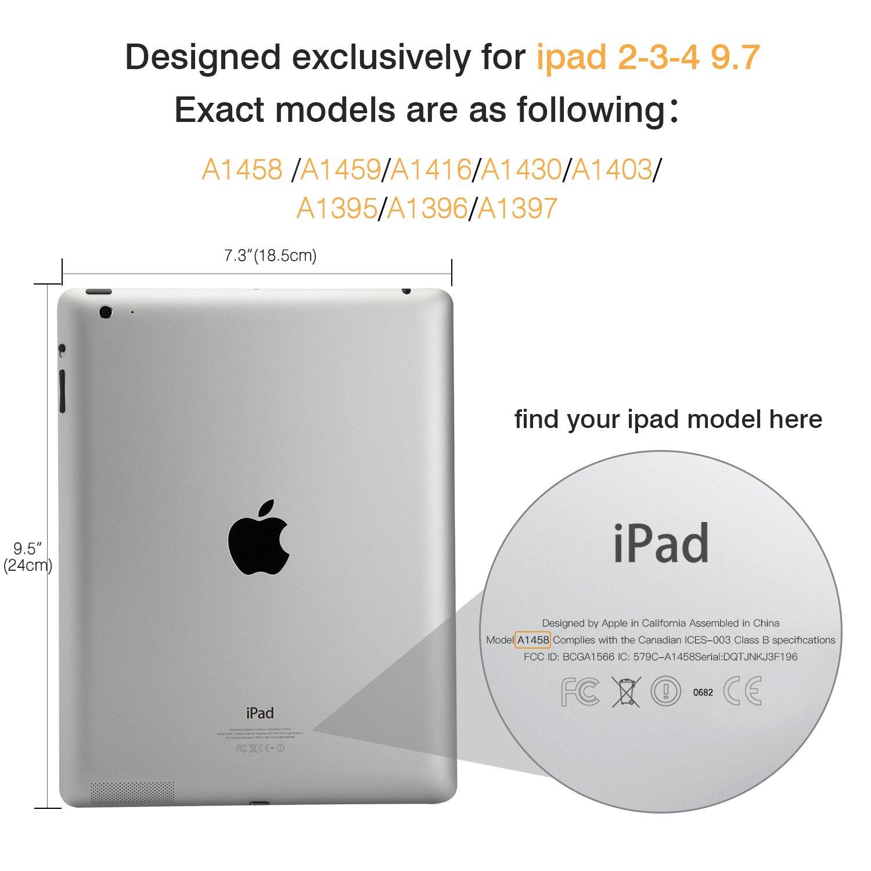 Amazon.com: MoKo Case for iPad 2 / 3 / 4 - Ultra Lightweight Slim ...