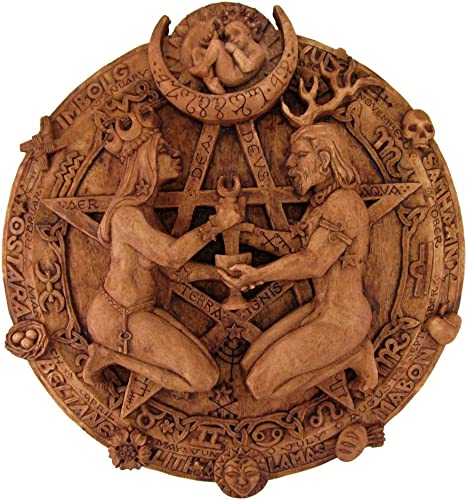 Great Rite Pentacle Wall Plaque Wood Finish