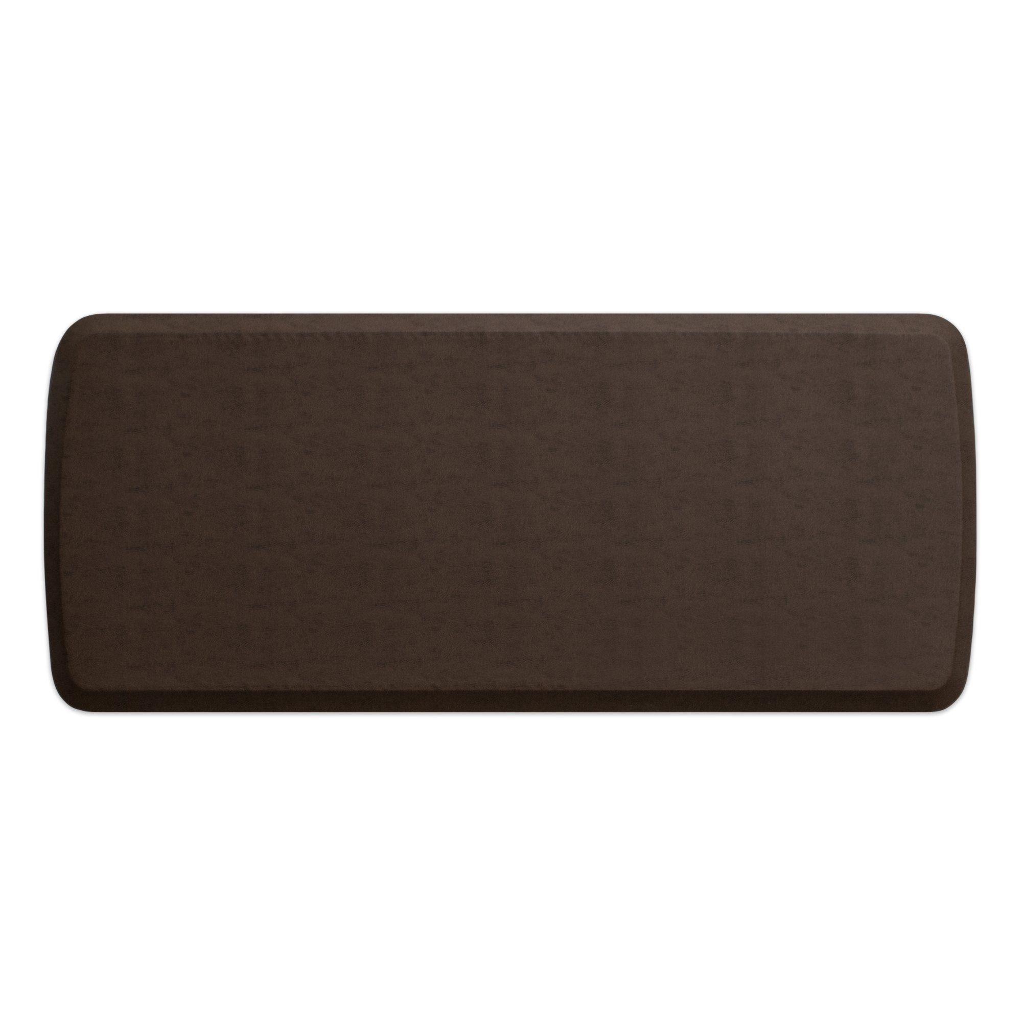 """GelPro Elite Premier Anti-Fatigue Kitchen Comfort Floor Mat, 20x48"""", Vintage Leather Rustic Brown Stain Resistant Surface with Therapeutic Gel and Energy-return Foam for Health and Wellness by GelPro (Image #1)"""