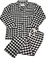 B O P J Mens Long Sleeve Flannel Pajamas