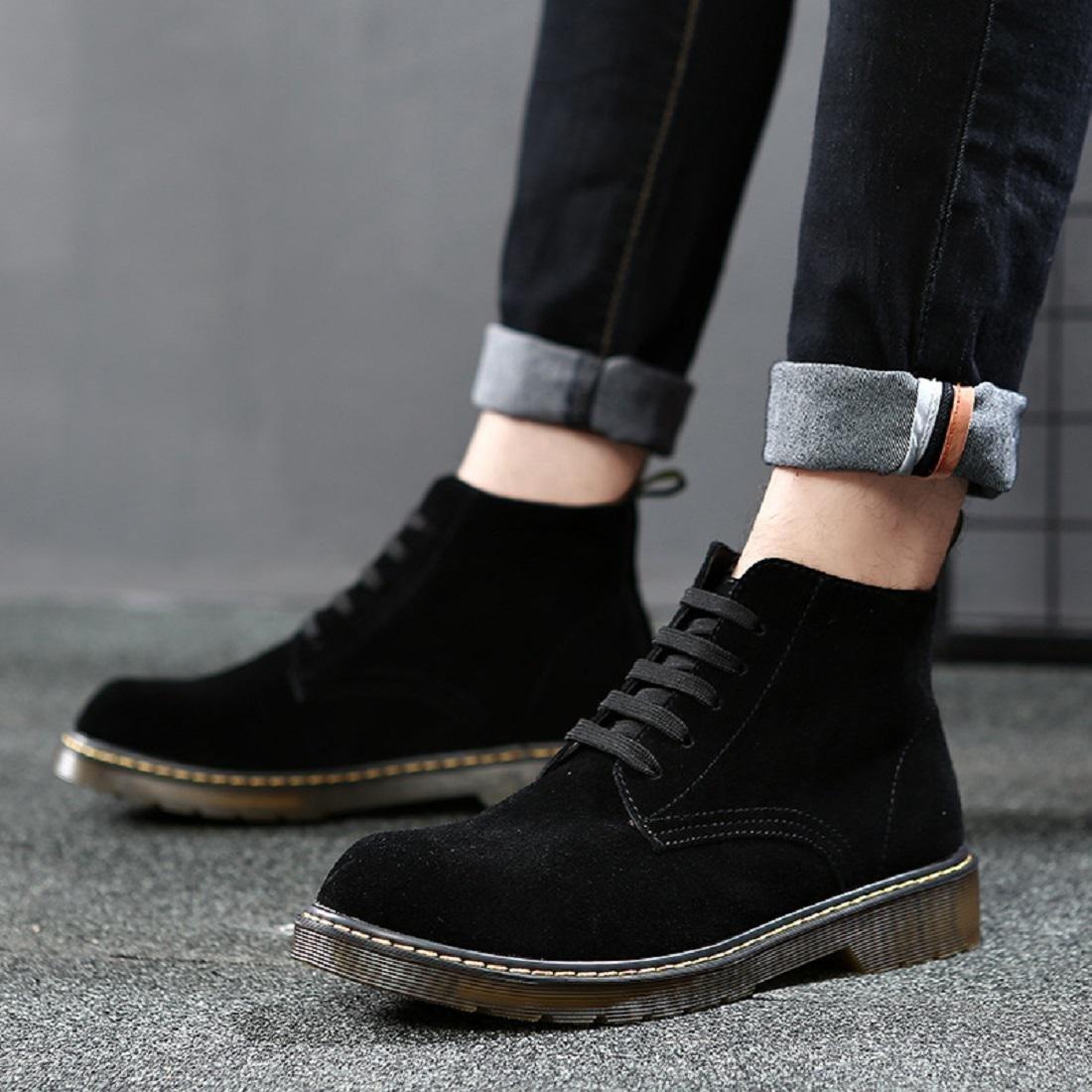 Herren Herbst Mode Martin Stiefel Stiefel Stiefel High-Top-Schuhe Lässige Schuhe Freizeit Flache Schuhe Füße schützen EUR GRÖSSE 38-46 d22c96