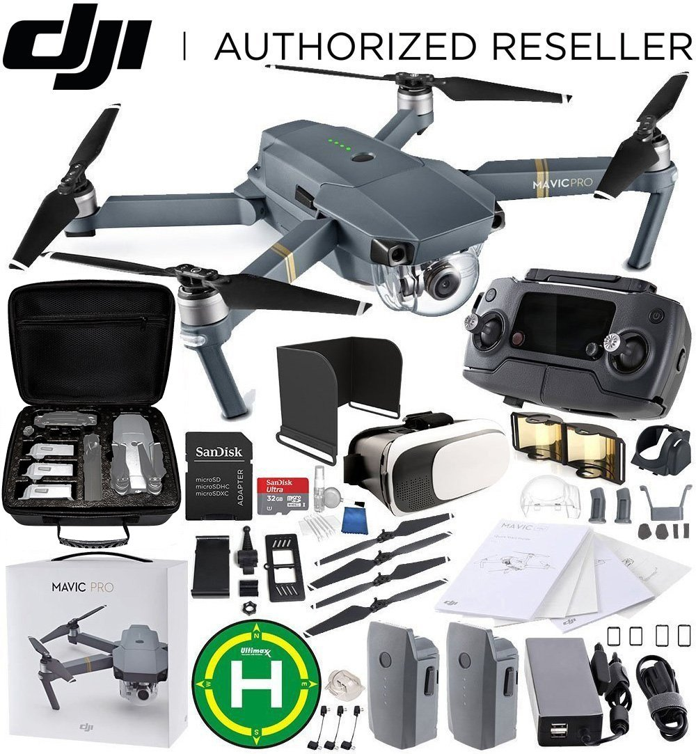 DJI Mavic Pro CollapsibleクアッドコプターEverything You Needスターターバンドル B078XHM8L8