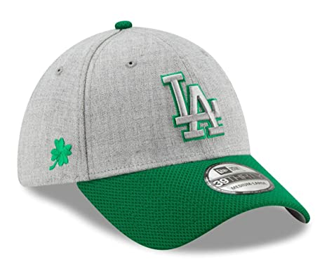 """fa85a535fa11b9 Image Unavailable. Image not available for. Color: New Era Los Angeles  Dodgers MLB 39THIRTY St. Patrick's Change Up Redux 2"""" Hat"""