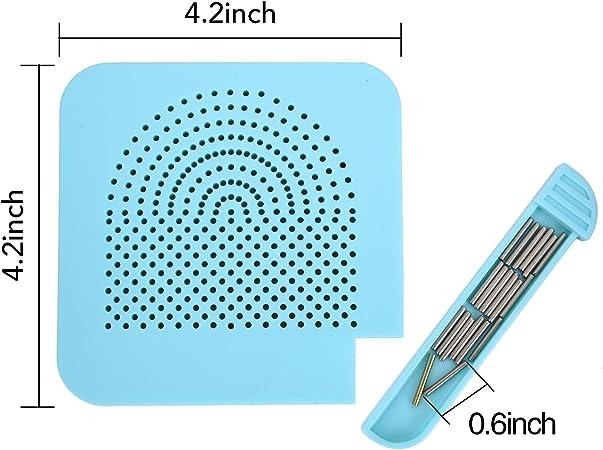 Quilling Carta Tavola con Perno Stoccaggio Guida Griglia Blu per La Carta di Rotolo Strumento Mestiere Quadrato Fai Da Te