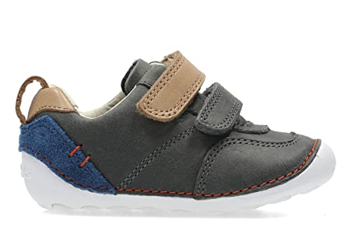 c60703ee9eb1 Clarks 2733-97G Tiny Aspire Grey Kids First Shoes 3  Amazon.co.uk ...