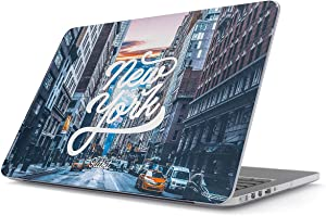 """Glitbit Hard Case Cover Compatible with MacBook Air 11 Inch Case, Model: A1370 / A1465 11-11.6 Inch 11"""" New York City NY Big Apple USA Times Square America Travel Wanderlust Brooklyn Manhattan"""
