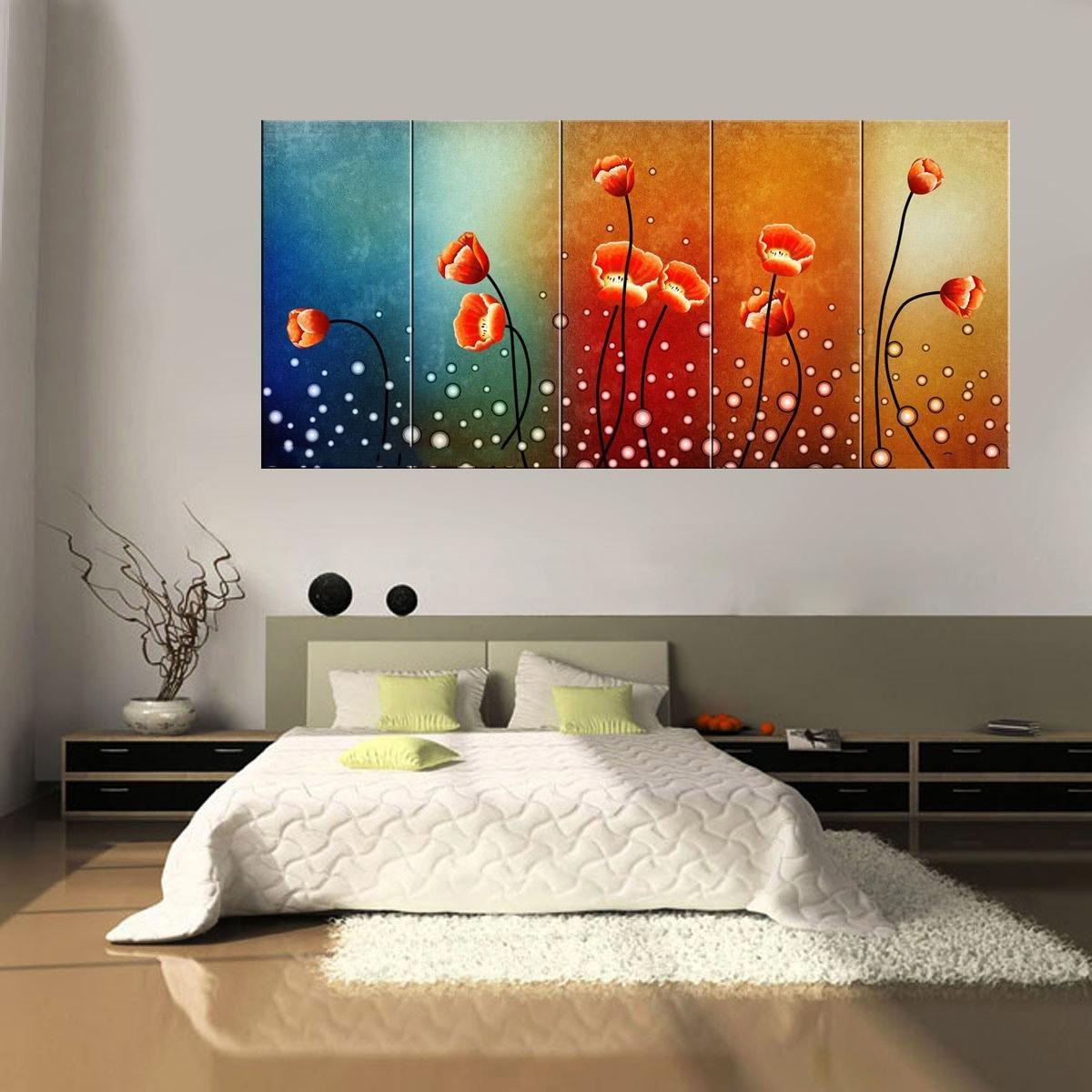 Impresión En Lienzo Nuevo Para Pared Decoración Para Hogar Sala Cocina Dormitorio Flores Coloridas Elegantes (sin marco o bastidor)