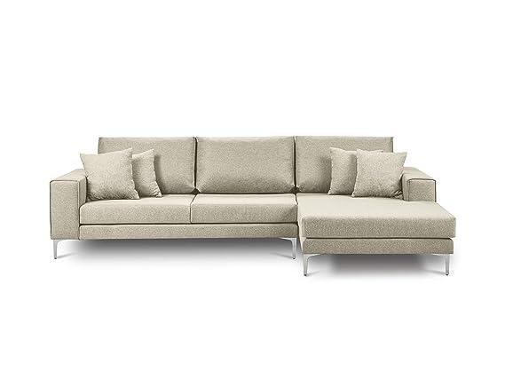 Cosmopolitan Design - Sofá de Esquina Recto, 4 plazas, Beige ...