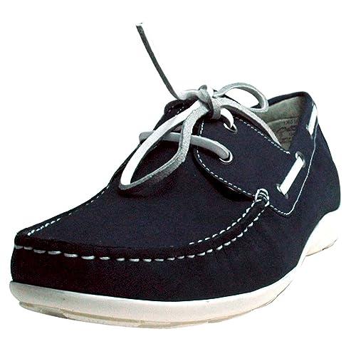 Caprice - Mocasines de Piel para Hombre Navy- Blau: Amazon.es: Zapatos y complementos