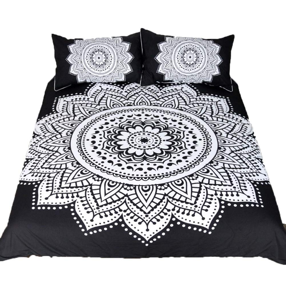 Bedding Duvet Cover Set Bedding Duvet Cover Set Bedding Set Polyester 3D Printing with Zipper Closure Bedroom Decoration 3 Styles (Color : C, Size : 210x210cm) by OZYN-Duvet Covers