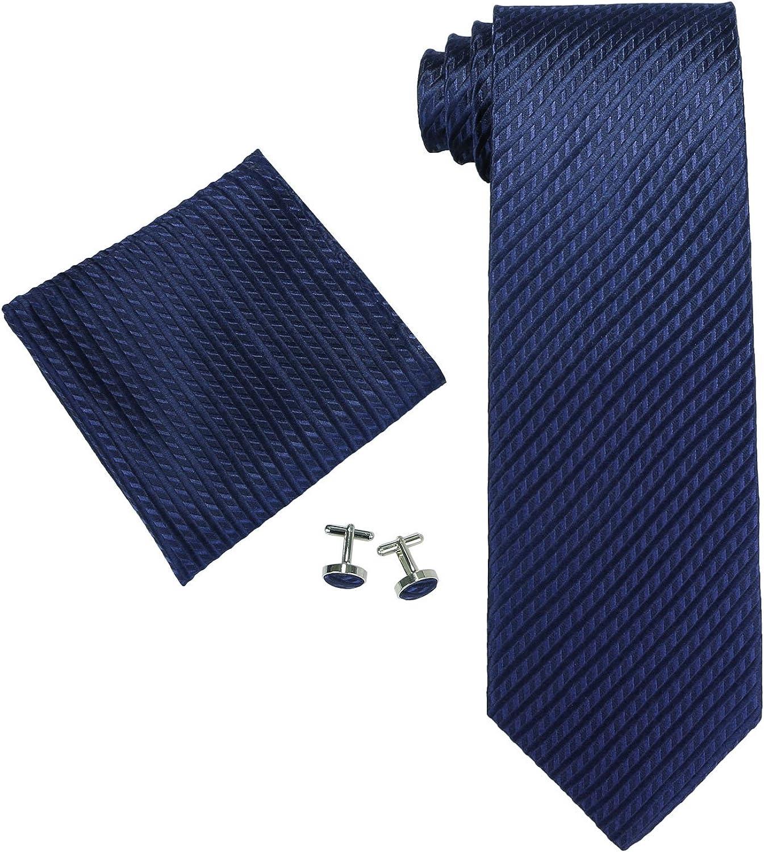 Landisun Solid Corbata para Hombre