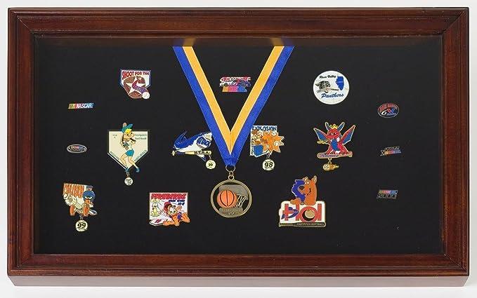 Vitrina para Pins, medallas, insignias – Caja de sombra: Amazon.es: Hogar