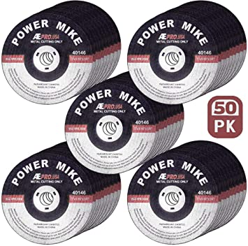 50 pack Cut Off Wheels 3 x 1//16 x 3//8 Inches Aggressive Cutting Metal Stainless