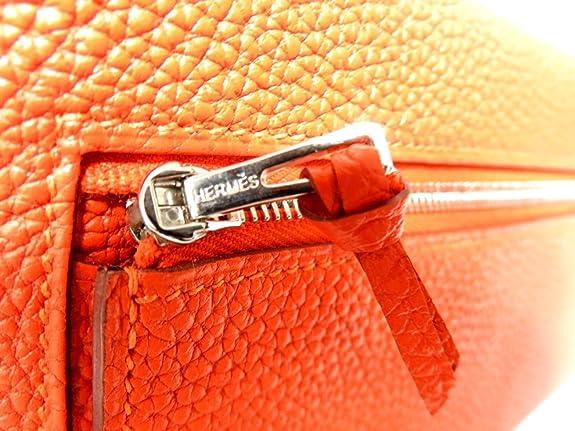 61a950243f0d Amazon | [エルメス] HERMES ドゴンロング 二つ折り長財布 長財布 オレンジポピー(シルバー金具) トゴ [中古] | HERMES( エルメス) | レディースバッグ・財布
