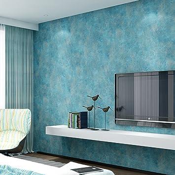 Vliestapete Rock Sand Muster Schlafzimmer Wohnzimmer TV Hintergrund Tapete  Rolle Zuhause Deko (Türkis)