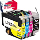 Kingway Upgraded LC3033XXL LC3033 LC3035 Compatible Ink Cartridges Replacement for Brother MFC-J995DW MFC-J995DWXL MFC-J815DW